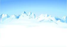 De bergenpanorama van de winter Stock Foto