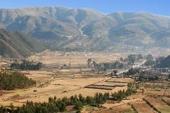 De Berghelling van Peru stock afbeeldingen