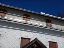 De berghut van Prielschutzhaus in totalisators gebirge Royalty-vrije Stock Foto's