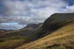 De bergketen van cadairidris in snowdonia Stock Afbeeldingen