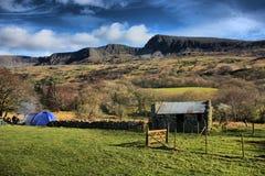 De bergketen van cadairidris in snowdonia Royalty-vrije Stock Foto's