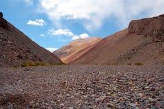De Bergketen van de Andes Stock Foto