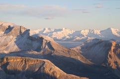 De bergketen van het dolomiet Stock Afbeeldingen
