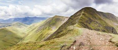 De Bergketen van het Lake District Stock Foto's