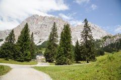 De bergketen van Wetterstein, Ehrwald, Tirol Royalty-vrije Stock Afbeelding