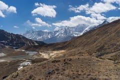 De bergketenlandschap van Himalayagebergte, Everest-gebied, Nepal Stock Afbeelding