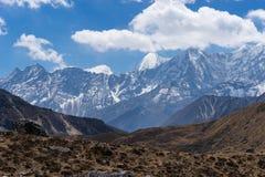 De bergketenlandschap van Himalayagebergte na de dwarsrenjo-pas van La, Vooravond Royalty-vrije Stock Afbeelding