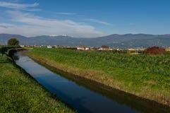 De berglandschap van Abetone, Italië stock afbeelding
