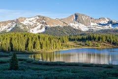De Berglandschap van Colorado in de Zomer stock fotografie
