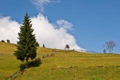 De berglandschap van de herfst stock afbeelding