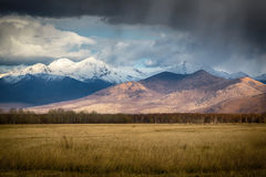 De berglandschap van de herfst Nationale reserve Karadag Royalty-vrije Stock Foto