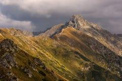De berglandschap van de herfst Nationale reserve Karadag Tatry polen Royalty-vrije Stock Foto's