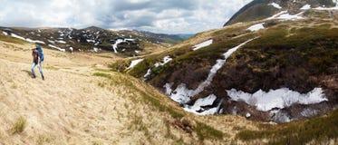 De berglandschap van de lente Royalty-vrije Stock Foto's