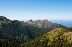 De berglandschap van de orkaanrand Stock Foto