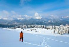 De berglandschap van de winter royalty-vrije stock fotografie