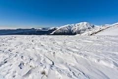 De berglandschap van de winter Stock Fotografie