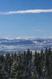 De berglandschap van de winter Royalty-vrije Stock Afbeelding