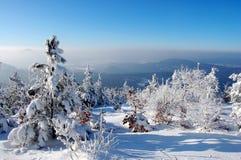 De berglandschap van de winter royalty-vrije stock afbeeldingen