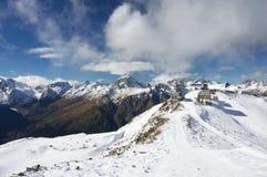 De berglandschap van de winter Stock Foto