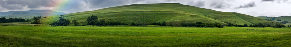 De berglandschap van het panorama Stock Foto's