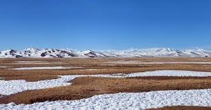 De Berglandschap van Himalayagebergte in Ngari-Prefectuur, Tibet stock fotografie