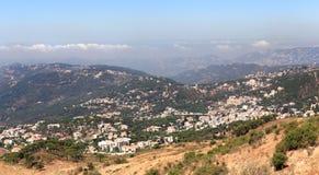 De berglandschap van Libanon in Falougha Royalty-vrije Stock Afbeelding
