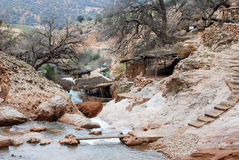 De berglandschap van Marokko royalty-vrije stock fotografie