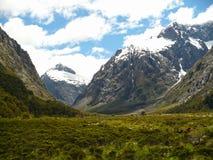 De Berglandschap van Nieuw Zeeland Stock Foto's