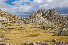 De berglandschap van Velebit dichtbij Tulove Grede Royalty-vrije Stock Fotografie