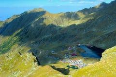Het meer van Balea in bergen Fagaras Royalty-vrije Stock Fotografie