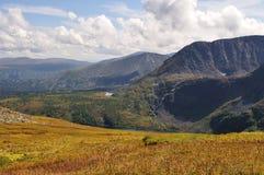 De bergmeer van de herfst Stock Foto