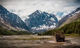 De bergmening van Altaiaktru stock afbeelding