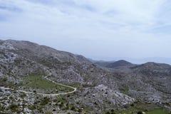 De bergmening van de Biokovoweg Stock Afbeelding
