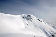 De bergmening van de winter Stock Afbeelding
