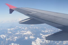De bergmening van Himalayagebergte van aeroplan Stock Foto's