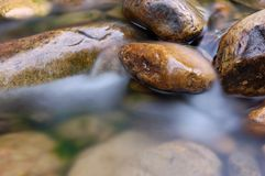 De bergrivier stock afbeeldingen