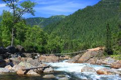 De bergrivier stock foto