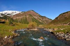 De bergrivier in kloof stock afbeeldingen
