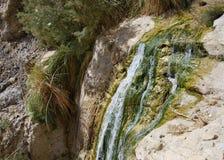 De bergrivier met de uiterst kleine dalingen Royalty-vrije Stock Afbeeldingen