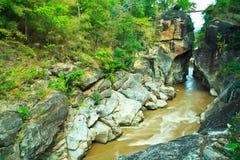 De Bergrivier van Obluang in Thailand Royalty-vrije Stock Afbeeldingen