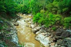De Bergrivier van Obluang in Thailand Stock Fotografie