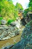 De Bergrivier van Obluang in Thailand Royalty-vrije Stock Afbeelding