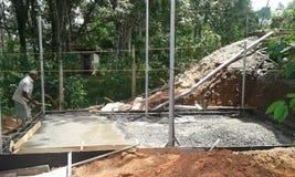 De bergruimte van de watertank bij aanvankelijke satge Stock Fotografie