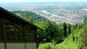 De Bergstation van Heidelberg op Koenigstuhl in Heidelberg in illustratief Duitsland, stock videobeelden
