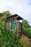 De bergtoilet van het land Stock Fotografie