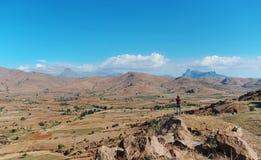 De bergvallei op het Eiland Madagascar royalty-vrije stock foto