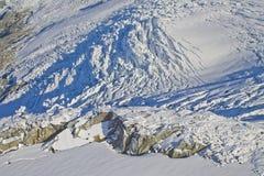 De bergvallei van de Mendenhallgletsjer Stock Fotografie