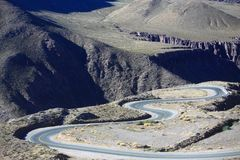 De bergweg in Argentinië Royalty-vrije Stock Afbeelding