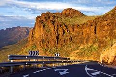 De bergweg van Gran Canaria stock afbeeldingen