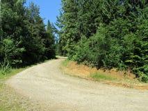 De bergweg van het macadam stock foto's